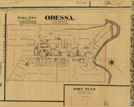 Odessa Village - St. Georges, Delaware 1881 Old Town Map Custom Print - New Castle Co.