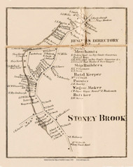 Stoney Brook, New York 1858 Old Town Map Custom Print - Suffolk Co.