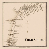 Cold Spring, New York 1858 Old Town Map Custom Print - Suffolk Co.