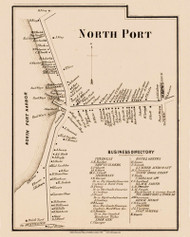 Northport, New York 1858 Old Town Map Custom Print - Suffolk Co.