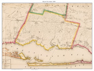 Islip and Fire Island, New York 1858 Old Town Map Custom Print - Suffolk Co.