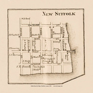 New Suffolk, New York 1858 Old Town Map Custom Print - Suffolk Co.