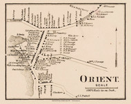 Orient, New York 1858 Old Town Map Custom Print - Suffolk Co.