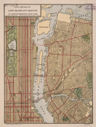 Long Island 1911 - Old Map Reprint - New York Cities Other Queens Co.
