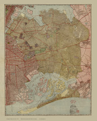 Queens 1923 - Old Map Reprint - New York Cities Other Queens Co.