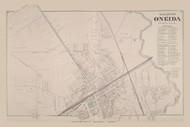 North Part of Oneida, New York 1875 - Old Town Map Reprint - Madison Co. Atlas