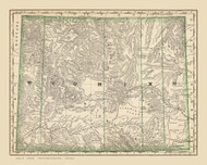Wyoming 1879  - Old State Map Reprint