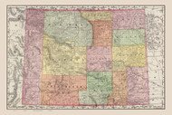 Wyoming 1897  - Old State Map Reprint