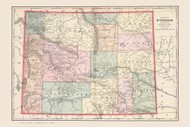 Wyoming 1901 Cram - Old State Map Reprint