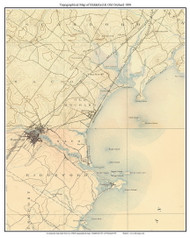 Biddeford & Old Orchard 1891 - Custom USGS Old Topo Map - Maine