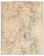 Camden, Rockland, and Rockport 1906 - Custom USGS Old Topo Map - Maine
