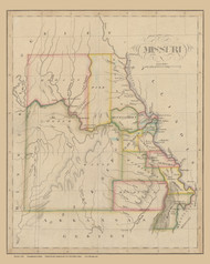 Missouri 1826  - Old State Map Reprint