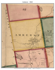 Amherst, Maine 1860 Old Town Map Custom Print - Hancock Co.