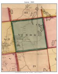 Aurora, Maine 1860 Old Town Map Custom Print - Hancock Co.