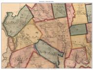 Bucksport and Ellsworth, Maine 1860 Old Town Map Custom Print - Hancock Co.