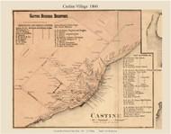 Castine Village, Maine 1860 Old Town Map Custom Print - Hancock Co.
