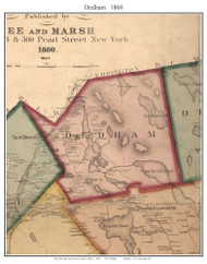 Dedham, Maine 1860 Old Town Map Custom Print - Hancock Co.