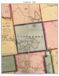 Eastbrook, Maine 1860 Old Town Map Custom Print - Hancock Co.
