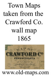 Title of Source Map - Crawford Co., Pennsylvania 1865 - NOT FOR SALE - Crawford Co.