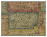 Athens, Pennsylvania 1865 Old Town Map Custom Print - Crawford Co.