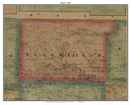 Bloomfield, Pennsylvania 1865 Old Town Map Custom Print - Crawford Co.