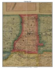 Cambridge, Pennsylvania 1865 Old Town Map Custom Print - Crawford Co.