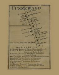 Cussewago Village, Pennsylvania 1865 Old Town Map Custom Print - Crawford Co.