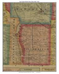 East Fallowfield & West Fallowfield, Pennsylvania 1865 Old Town Map Custom Print - Crawford Co.
