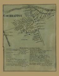 Cochranton, Pennsylvania 1865 Old Town Map Custom Print - Crawford Co.