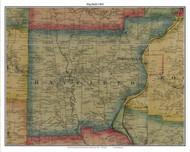 Hayfield, Pennsylvania 1865 Old Town Map Custom Print - Crawford Co.