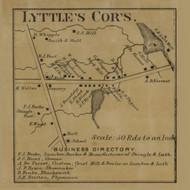 Lyttles Corners, Pennsylvania 1865 Old Town Map Custom Print - Crawford Co.