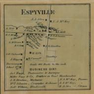 Espyville, Pennsylvania 1865 Old Town Map Custom Print - Crawford Co.