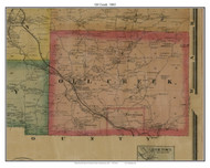Oil Creek, Pennsylvania 1865 Old Town Map Custom Print - Crawford Co.