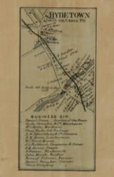 Hyde Town, Pennsylvania 1865 Old Town Map Custom Print - Crawford Co.