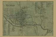 Titusville, Pennsylvania 1865 Old Town Map Custom Print - Crawford Co.