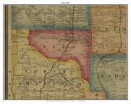 Pine, Pennsylvania 1865 Old Town Map Custom Print - Crawford Co.