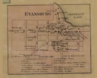 Evansburg, Pennsylvania 1865 Old Town Map Custom Print - Crawford Co.