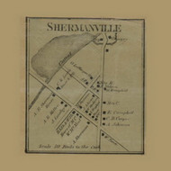 Shermanville, Pennsylvania 1865 Old Town Map Custom Print - Crawford Co.