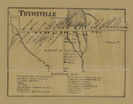 Tryonville, Pennsylvania 1865 Old Town Map Custom Print - Crawford Co.