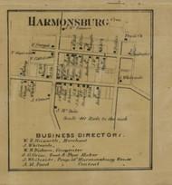 Harmonsburg, Pennsylvania 1865 Old Town Map Custom Print - Crawford Co.