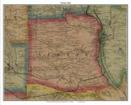Vernon, Pennsylvania 1865 Old Town Map Custom Print - Crawford Co.