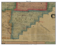 Wayne, Pennsylvania 1865 Old Town Map Custom Print - Crawford Co.