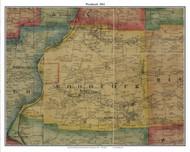 Woodcock, Pennsylvania 1865 Old Town Map Custom Print - Crawford Co.