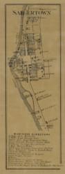 Saegertown, Pennsylvania 1865 Old Town Map Custom Print - Crawford Co.