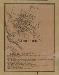 Woodcock Village, Pennsylvania 1865 Old Town Map Custom Print - Crawford Co.