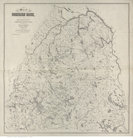 Northern Maine - 1899 Hubbard - Old Map Reprint