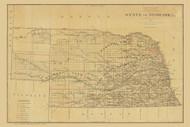 Nebraska 1879 General Land Office - Old State Map Reprint