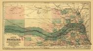 Nebraska 1880 Page - Old State Map Reprint