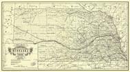 Nebraska 1889 Alt - Old State Map Reprint