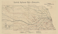 Nebraska 1890 Board of Transportation - Old State Map Reprint